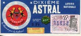 France - 278 - Dixième Astral Gémeaux - 27 ème Tranche 1968 - Loterijbiljetten