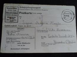 Carte WWII Stalag III A IIIA 3A 1943 S. Vito Normanni Brindisi Italia Oflag Prisonnier De Guerre STO - Historische Dokumente