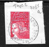 FRANCE 3085a Adhésif 15a Marianne Du 14 Juillet Tvp Rouge - Usati