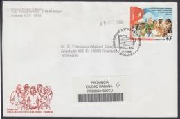 2005-FDC-72 CUBA FDC 2005. REGISTERED COVER TO SPAIN. SEGURIDAD SOCIAL, SOCIAL SEGURITY. - FDC