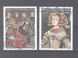 """France Oblitérés N°5236/5237 (les 2 Timbres Du Bloc """"grandes Heures De L'histoire De France 2018"""") (cachet Rond) - France"""