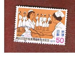 GIAPPONE  (JAPAN) - SG 1458 -   1977 NURSES  CONGRESS - USED° - 1926-89 Imperatore Hirohito (Periodo Showa)