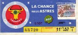 France - 279 - La Chance Par Les Astres Taureau - 11 ème Tranche 1957 - Loterijbiljetten