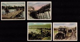 WWI Guerre 14-18 Chromos Pub Allemagne La Guerre Vue Côté Allemand Lot 4 Images 1917 Voir Descriptif Pour Légendes  SUP - Cigarette Cards