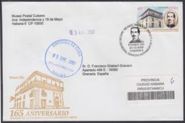 2006-FDC-108 CUBA FDC 2006. REGISTERED COVER TO SPAIN. 165 ANIV NACIMIENTO MAYOR GENERAL IGNACIO AGRAMONTE, - FDC