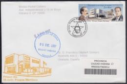 2006-FDC-110 CUBA FDC 2006. REGISTERED COVER TO SPAIN. 55 ANIV FRAGUA MARTIANA, GONZALO DE QUESADA. - FDC