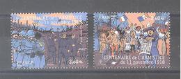 """France Oblitérés (les 2 Timbres Du Bloc """"centenaire De L'armistice Du 11 Nov. 1918"""") (cachet Rond) - France"""