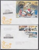 2006-FDC-112 CUBA FDC 2006. REGISTERED COVER TO SPAIN. ANIMALES AL SERVICIO HOMBRE, DOG, PERROS, CATS, GATOS, - FDC