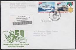 2006-FDC-113 CUBA FDC 2006. REGISTERED COVER TO SPAIN. 50 ANIV DESEMBARCO DEL GRANMA, FAR, ARMY FORCES. - FDC