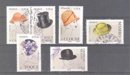 """France Oblitérés (les 6 Timbres Du Bloc """"les Chapeaux"""") (cachet Rond) - France"""
