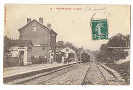 Cpa: 02 FOLEMBRAY (ar. Laon) La Gare (Intérieur Animé, Train) N° 14 - Sonstige Gemeinden