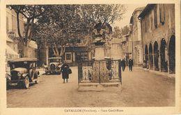 Cavaillon (Vaucluse) - Place Et Statue (buste) Castil-Blaze 1942 - Vieilles Voitures - Edition C. Denuc - Cavaillon