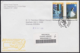 2006-FDC-118 CUBA FDC 2006. REGISTERED COVER TO SPAIN. 20 FESTIVAL DE BALLET DE LA HABANA, ALICIA ALONSO. - FDC