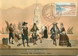 Dép 17 - Phares - Royan - Le Phare Du Cordouan - Costumes Et Navires De L'époque - Illustrateur A. Goichon - 2 Scans - Royan