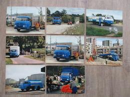 LOT DE 8 CPA CAMIONS RENAULT SAVIEM PUBLICITE - Camions & Poids Lourds