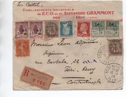 1923  ENVELOPPE ILLUSTRÉE (VOIR DOS) De PONT DE CHERUY (ISERE) - ETABLISSEMENTS INDUSTRIELS DE ECG ET ALEXANDRE GRAMMONT - 1921-1960: Modern Period