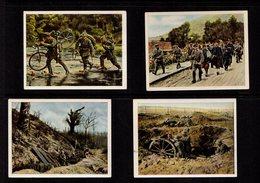 WWI Guerre 14-18 Chromos Pub Allemagne La Guerre Sur Ce Lot En France En 1917  4 Images Voir Descriptif / Légendes  SUP - Cigarette Cards