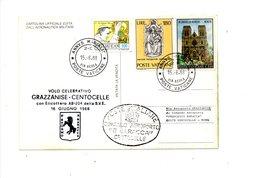 LAB564 - VATICANO 1988 , Volo Elicottero Grazzanise Centocelle - Elicotteri