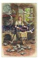 Cendrillon. Carte Gaufrée. Vers 1900 (1905 ?) - Contes, Fables & Légendes