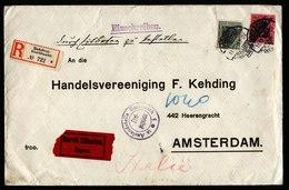 A5894) DR R-Expressbrief Radebeul-Oberlössnitz 11.12.16 N. Amsterdam Zensur - Deutschland