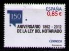 ESPAÑA 2012 - ANIVERSARIO DE LA LEY DEL NOTARIADO - EDIFIL Nº 4724 - YVERT 4402 - 1931-Hoy: 2ª República - ... Juan Carlos I