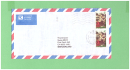 MALAWI 1999 AIR MAIL COUVERT WITH 2 STAMPS TO SWISS - Malawi (1964-...)