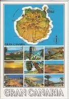 GRAN CANARIA  Mapa De La Isla   Vista Diverso     Nice Stamp - Gran Canaria