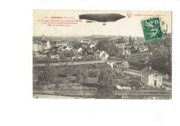 Cpa - 91 - Essonnes - Passage Du Dirigeable PATRIE Pour Le Raid Chalais Fontainebleau 1907 - Ballon - Essonnes