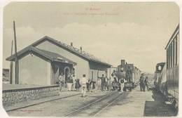 Cpa Thézan - Gare Des Tramways ( Dans L'état ) - Francia