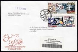 2006-FDC-127 CUBA FDC 2006. REGISTERED COVER TO SPAIN. HISTORIETAS CUBANAS, PUCHO & CUCHO CARTOON. - FDC
