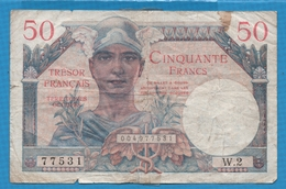 FRANCE LOT 3 BILLETS 5+10+50 FRANCS 1947  TRÉSOR FRANCAIS - Treasury