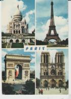 Postcard - Paris - Four Views  - Posted 2nd November 1982very Good - Postcards