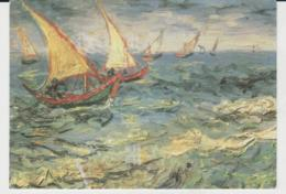 Postcard - Art - Vincent Van Gogh - Seascape At Saint - Marie  - Posted 9th July 1995 Very Good - Postcards