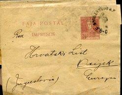 42893 Argentina, Faja Postal Circuled To Jugoslavia - Entiers Postaux