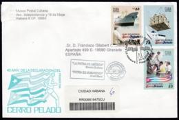 2006-FDC-129 CUBA FDC 2006. REGISTERED COVER TO SPAIN. 40 ANIV DECLARACION CERRO PELADO, PUERTO RICO. - FDC