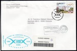 2006-FDC-130 CUBA FDC 2006. REGISTERED COVER TO SPAIN. 20 ANIV CENTRO INGENIERIA GENETICA, CNIC, SCIENCE. - FDC