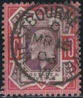 GB 1902 Yv. N°116 - 10p Rouge Carminé Et Violet-brun - Oblitéré - 1902-1951 (Rois)