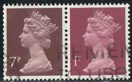 GB 1977 Yv. N°734+606 - 7p + 1p Se Tenant - Oblitéré - 1952-.... (Elizabeth II)