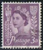 GB 1958 Yv. N°325 - 3p Violet Jersey - Oblitéré - Emissions Régionales