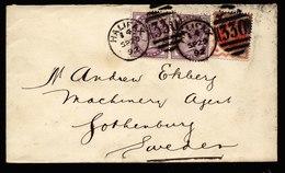 A5895) UK Brief Halifax 09/20/92 N. Gothenburg / Schweden - Storia Postale