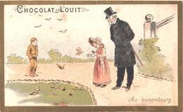 Figurina Antica, Chromo, Victorian Trade Card.  Chocolat Louit. Au Luxembourg. TM Champenois 36-33/9 - Louit