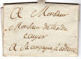 Lettre 1783 Envoyée De PERTUIS à La Campagne D' Ardene ( MANE ) - Marcofilie (Brieven)