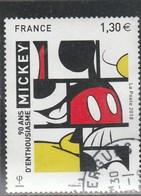 FRANCE 2018 MICKEY 90 ANS D ENTHOUSIASME OBLITERE - France