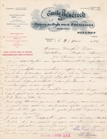 81 MAZAMET BOEN COURRIER 1912 Fibres De Bois Pour Emballages Emile BENEZECH X31 Tarn Loire - France