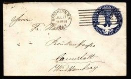 A5896) US Kleiner Ganzsachenumschlag Columbus 1 Cent Brooklyn 07/17/93 - Ganzsachen