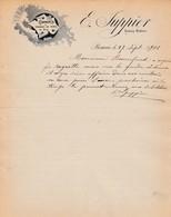 21 BEAUNE COURRIER 1906 Commerce Pommes De Terre JUPPIER X31 Cote D' Or - France