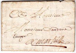 Lettre  1732  Envoyée à MARSEILLE - Marcofilie (Brieven)