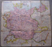 Alte Landkarte Vom Großdeutschen Reich Mit Gau Einteilung Maßstab 1:2 000 000 - 1939-45