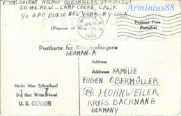 Wehrmacht - Kriegsgefangene - Prisoner Of War (POW) - Camp Cooke, California - New York USA, 19 April 1945 - Hohnweiler - Guerre, Militaire