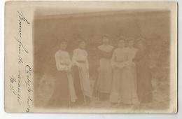 Carte Photo Clichy 1903 Femmes Jeux - Cartes Postales